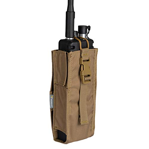 IDOGEAR Tactical Radio Pouch for Walkie Talkies PRC 148/152 Molle Radio Holder 500D Nylon (D:Coyote Brown)