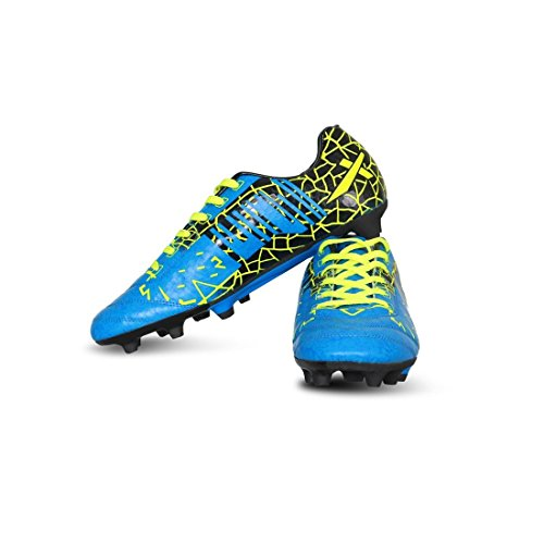 8. Vector X Infiniti Men's Blue, Black and Green Synthetic Football Shoes