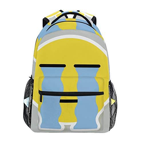 DXG1 Mochila Emoji Emoticon Llorar Mujeres Hombres Adolescente Niña Niño Escolar Bolsa Bolsa Bolsa Bolsa Casual Suministros