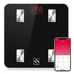 small FITINDEX Smart body fat scale, digital wireless BMI meter, body composition monitor, …