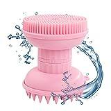 Shampoo Bürste Kopfhaut Massager Haarbürste - 4 In1 Silikon Gesichtswäscher Bürste...