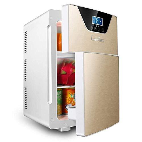 ZKDX 20L del Coche Refrigerador Nevera portátil 12V 230V de Coches Mini refrigeradores con Agua fría y Caliente 20L función de retención de Oro, Oro 20l (Tamaño: Oro 20l) MXY (Color : 20l Gold)