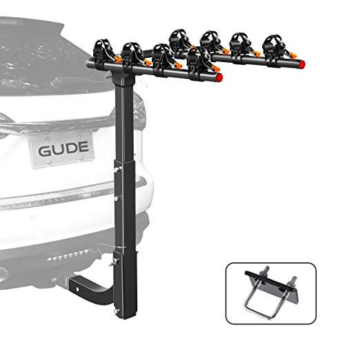 GUDE 4 Bike Rack for Car Bicycle Rack Foldable Bicycle Carrier Racks Fit 2'' Hitch Receiver Bike...