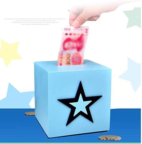Decoración de la casa higgy Bank inquebrantable Money Box Piggy Bank Creativo Gran capacidad Super Grande Hucha Moneda Billete Billete Dual Propósito Hucha Para Adultos Y Niños, Regalo De Cumpleaños B