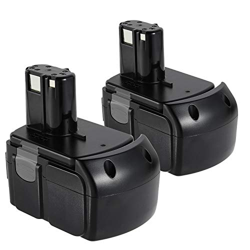 [2 Pack] 18V Li-ion High Capacity Battery 327730 327731 326240 326241 for Power Tools Hitachi BCL1815 BCL1820 BCL1825 BCL1830 Lithium-Ion HXP Battery Pack Black