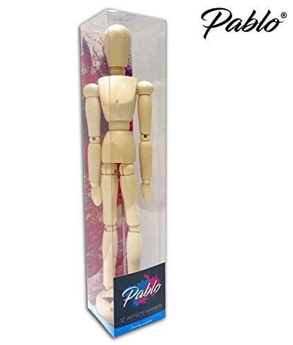 Pablo®–premium 12'(pulgadas) de madera de artistas maniquí/maniquí sin barnizar