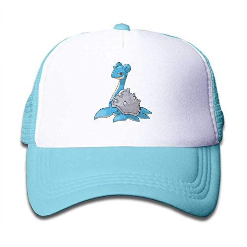 MWHprint Children's Trucker Hats for Boys&Girls Cool Adjustable Kids Cap, Pokemon Lapras, Sky Blue