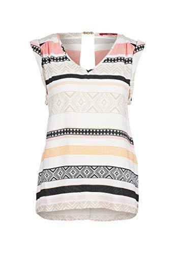 s.Oliver Damen 120.10.005.10.100.2040353 Bluse, Cream Stripes, 36