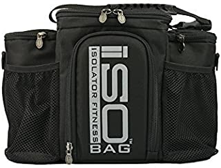 2nd Gen Isobag 3 Meal Management System / Silver Logo/Black / Insulated Lunch Box / Insulated Lunch Bag - Isolator Fitness by Isolator Fitness