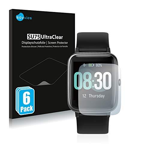 Savvies 6X Schutzfolie kompatibel mit CanMixs ID205L Bildschirmschutz-Folie Ultra-transparent