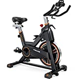 YOSUDA Magnetic Resistance Exercise Bike 350 lbs Weight Capacity - Indoor Cycling Bike Stationary with Comfortable Seat Cushion, Silent Belt Drive