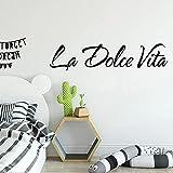 Pegatinas de vinilo impermeable para decoración del hogar, vinilo decorativo de PVC de la Dolce Vita, de 58 cm x 13 cm