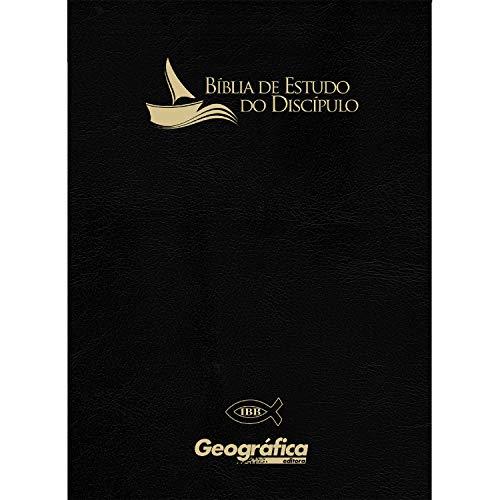 Bíblia de estudo do discípulo - Luxo revisada e atualizada (IBB) preta