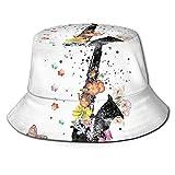 XCNGG Saxofón Saxofón Art Unisex Summer Sun Bucket Hat Gorra de Playa