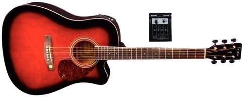 Tenson F501322 - Guitarra electro-acústica D-10CE, diseño violin burst