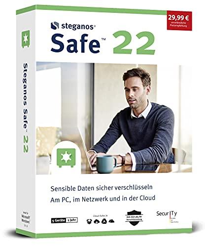Steganos SAFE 22 - Dein digitaler Tresor für Windows 10, 8.1, 7 für 5 PCs