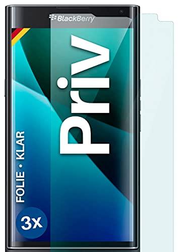 moex [3 Stück] Schutzfolie kompatibel mit BlackBerry Priv Bildschirmfolie Hüllen-Fre&lich, 0.2 mm dünne Bildschirmschutzfolie, Display Schutz extra Kratzfest - HD Ultra-Klar