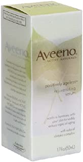 Aveeno Active Naturals Positively Ageless Rejuvenating Serum with Natural Shiitake Complex, 1.7-Ounce Bottle