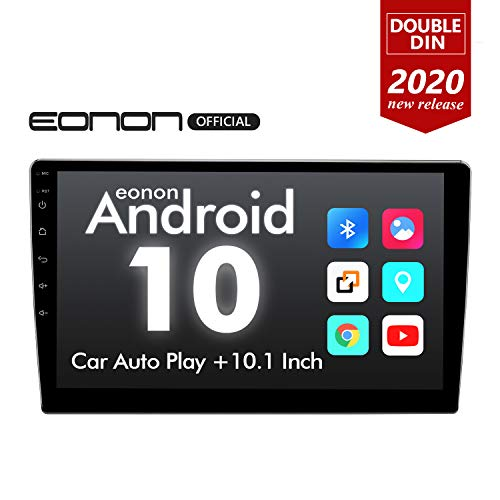 New 2020 Double Din Car Stereo,Android 10 Radio with Bluetooth 4.0, Eonon 10.1 Inch Car Radio Androi...