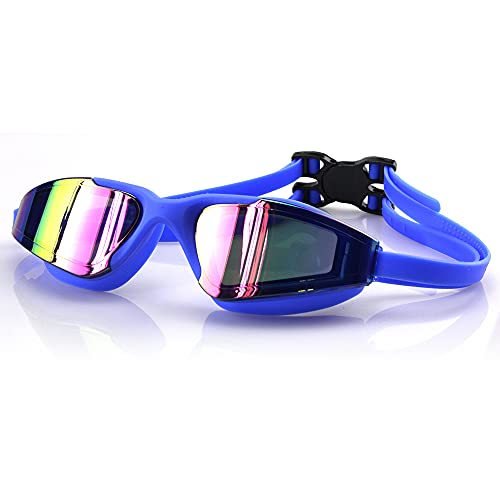 GKYI Gafas de natación Gafas de buceo Gafas de natación sin fugas anti niebla adultos hombres mujeres jóvenes