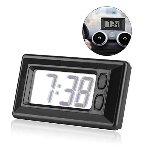 Digitale klok, LCD Mini Auto Klok Auto Auto Truck Dashboard Tijd Zelfklevende Beugel Voertuig Elektronische Digitale Klok met Datum Tijd Kalender Display