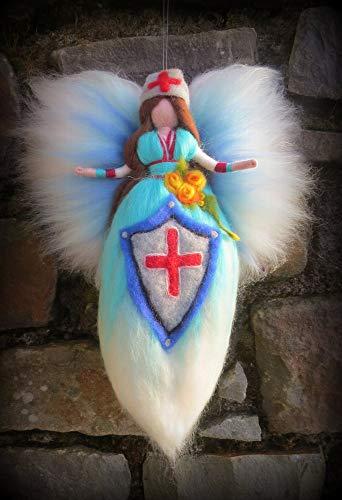 Gefilzter Schutzengel für die Engel - Schutzfee, Engel, Schutzengel, Waldorf, Wolle, Wollfee toll für Jahreszeitentisch, Märchenwolle