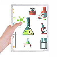 試験管円錐フラスコ化学 硬質プラスチックルーズリーフノートノート