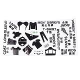 Cabilock 1 hoja de clasificación de ropa logo etiqueta de ropa interior caja de...