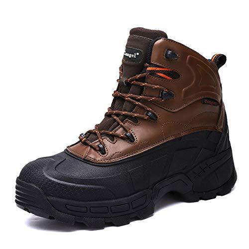 shoe Botas de Trabajo de Seguridad para Hombres,Botas de Punta de Acero Ligeras Y Cómodas Calzado de Protección para Exteriores Antipinchazos,Botas Antideslizantes Industriales Y de Construcción