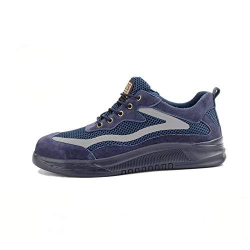 N-B Zapatos de seguridad laboral para hombre, puntera de acero, para verano, transpirable, antigolpes, antiperforación, zapatos de trabajo, resistentes al desgaste, ligeros, zapatos de herramientas