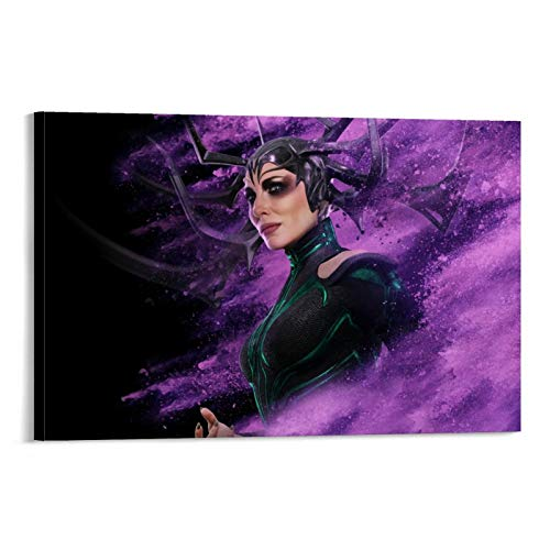 DRAGON VINES Thor Ragnarok Death Goddess Hela Art Leinwand Poster Wanddekoration HD Druck Wanddekoration Zuhause 50 x 75 cm