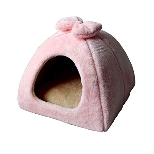 QWERTY Donut hundebett Pet Nest ,Haustierbett Pet's Höhle,Höhlenbett , Haustier Nest Entfernbar Katzen Haus Hundehöhle Katzenhöhle Pet Nest Hundebett Katzenbett Haustier Schlafsack (Color : Pink)