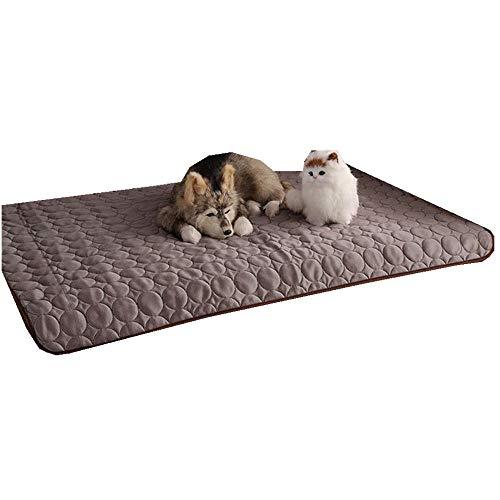 Sticker superb Rosa Blau Grau Haustier Kühlung Matte, Hund Katze Kühle Matte Pad Bett Matratze Hitze Relief, Sommer Schlafen Bett zum Klein Mittel Hund Katze (62X50cm, Grau)
