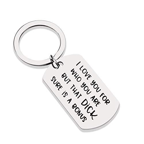 Steellwingsf Schlüsselanhänger mit Aufschrift I Love You For Who You Are, für Paare, Schlüsselanhänger, Tasche, Handtasche, Geldbeutel, Anhänger Gr. Einheitsgröße, multi