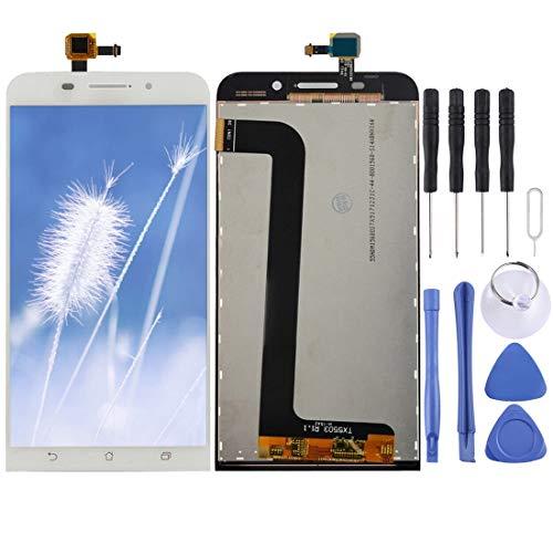 Mingxian Pantalla LCD y digitalizador Asamblea Completa for ASUS ZenFone MAX / ZC550KL (Color : White)
