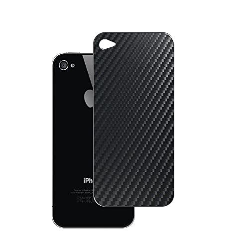 VacFun 2 Piezas Protector de pantalla Posterior, compatible con iphone 4 4s, Película de Trasera de Fibra de carbono negra Skin Piel