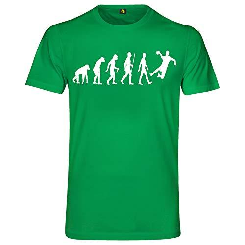 Evolution Handball T-Shirt   Handballer   Handballspiel   Sport   Werfen Grün XL