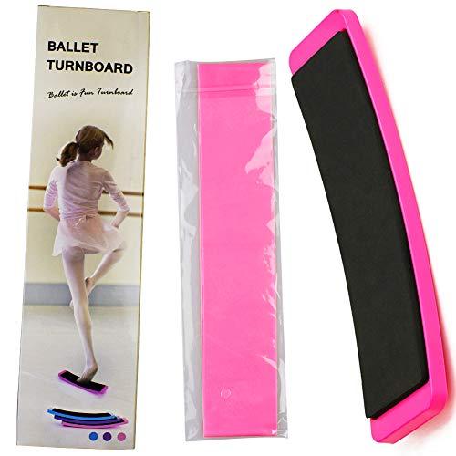 BESTZY Ballet Equipo Kit - Tablero Giratorio de Ballet Turning Board Bailarines Ballet Spin Board & Banda Elástica de Estiramiento para Mejorar la pirueta, giros y Equilibrio