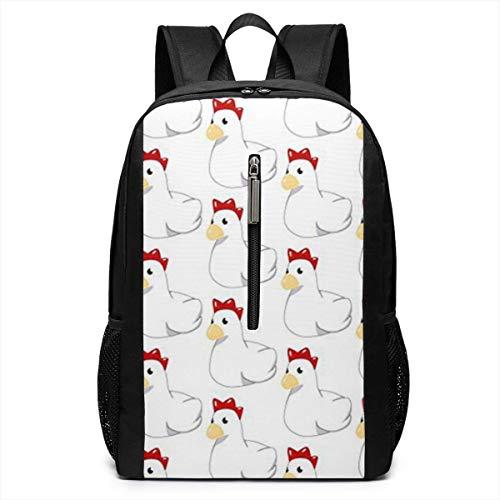 Chicken Cuckoo Laptop Backpack College School Backpack 17 Inch