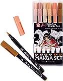 Sakura Koi Coloring Brush Pens MANGA SET, 6 brush pen skin tones