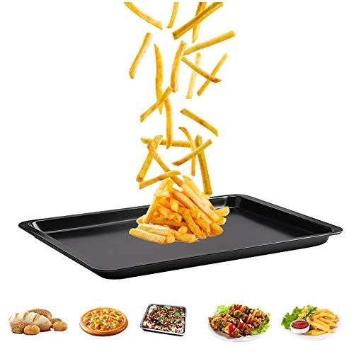 Ainstsk Plaque de cuisson anti-adhésive à chaleur rapide grande cuisine de cuisson en acier au carbone Accessoires de four pour faire des mousses, des biscuits, du pain, etc.