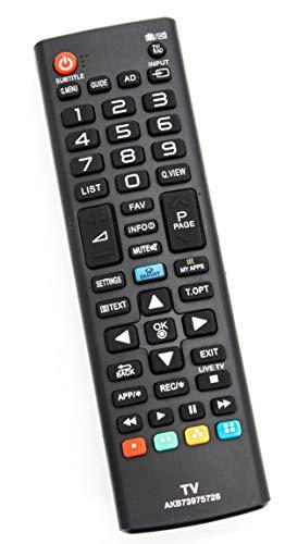 ALLIMITY AKB73975728 Fernbedienung Ersetzen für LG LED LCD 3D Smart TV 32LB580V 32LN570 32LN5758 39LN5758 39LN575S 42LB570 42LB580V 42UB820 47LB570 47LB580 50LB570 50LB580 55LB570 55LB580V