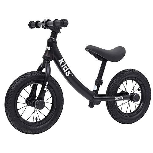 Kids'Balance Bike Kinderfiets, lichtgewicht, 12 inch, klassiek licht, nopedaal, peuters, loopfiets, in hoogte verstelbaar, voor meisjes en jongens 2-6 jaar