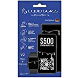 Liquid Glass Screen Protector With $500 Screen Protection - Scratch Resistant Wipe On Coating for All Apple Samsung and Other Phones Tablets Smart Watches - Universal