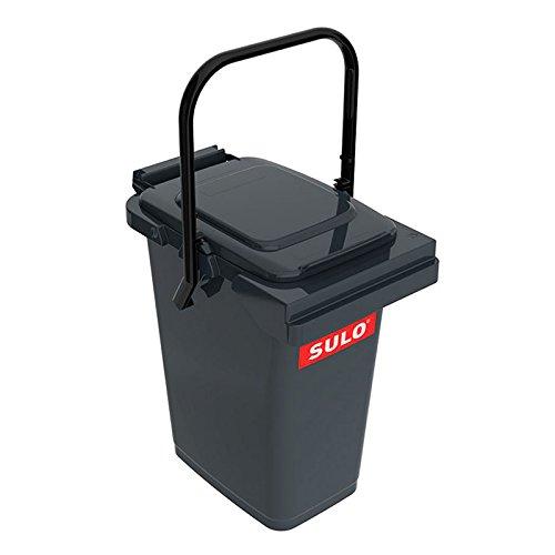 SULO Müllbehälter Mülleimer MB 25, Inhalt 25 l - Dunkelgrau