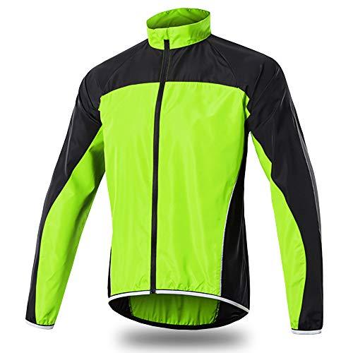 Kurtka rowerowa MTB dla mężczyzn, lekka wodoodporna kurtka sportowa do roweru górskiego, softshell oddychająca kurtka na rower szosowy, do wiosennej jazdy, wędrówek i biegania ZIELONY XXL
