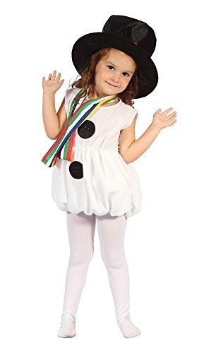 Bristol Novelty - Disfraz navideño Snowgirl para niñas pequeñas