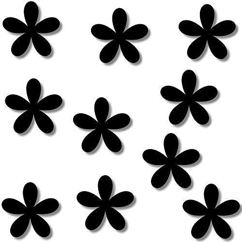 Fliesenaufkleber Schwarz Kacheldekor 10 Blumen Fenster Wandtattoo Bad Fliesen Blüten Farbe Deko (Die Farbe senden Sie in einer Nachricht über Amazon,siehe Farbtabelle Bild)