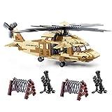 MAJOZ Minifiguren und Hubschrauber, Militär Soldat Minifigures, Baustein Spielzeug Geschenk für Kinder und Erwachsene