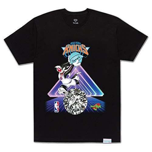 Diamond Supply Co. x NBA Space Jam 2 Men's New York Knicks Short Sleeve T Shirt Black 2XL